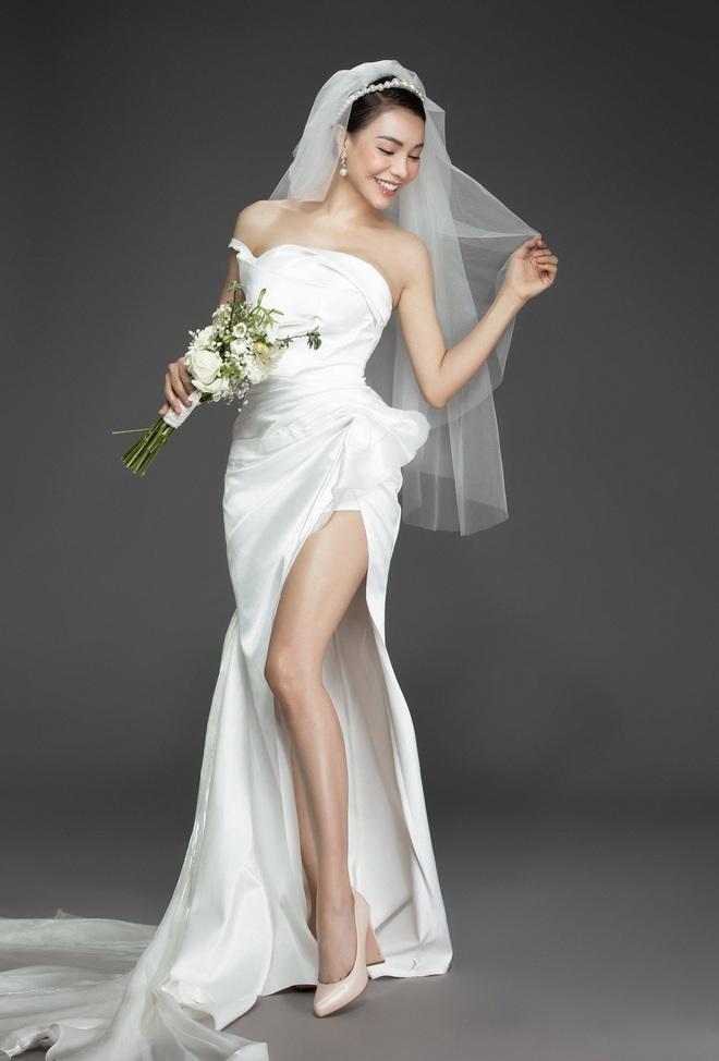 Trà Ngọc Hằng mặc váy cưới gợi cảm, khẳng định chưa có tình yêu mới - Ảnh 10.