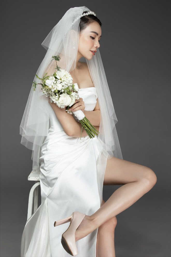 Trà Ngọc Hằng mặc váy cưới gợi cảm, khẳng định chưa có tình yêu mới - Ảnh 7.