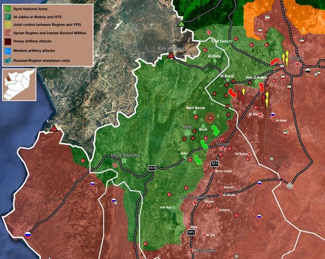 Ngáo ộp Su-34 ra tay, pháo binh Thổ hồn xiêu phách lạc, QĐ Syria tập kích bất ngờ theo 2 hướng - Ảnh 1.