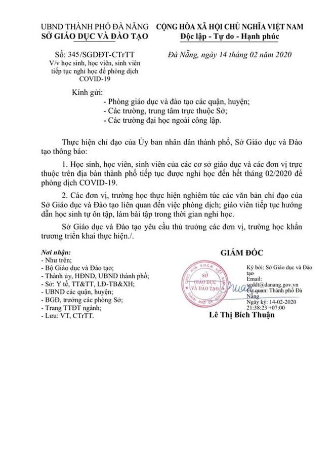Trong một ngày, Đà Nẵng 2 lần thay đổi lịch học của học sinh - Ảnh 1.
