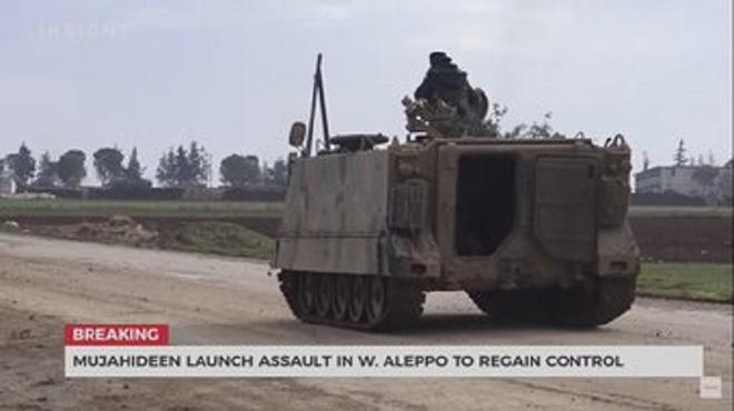 Xe tăng T-90 Syria bị phiến quân tóm sống, nghênh ngang đánh trả quân chính phủ - Ảnh 2.
