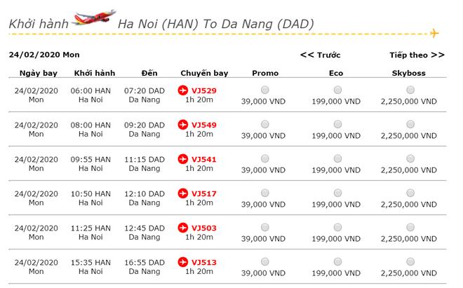 Giá vé máy bay giảm thấp kỷ lục: Hà Nội – Đà Nẵng còn 39.000 đồng - Ảnh 2.
