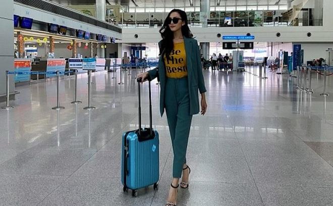 Hoa hậu chuyển giới đầu tiên của Việt Nam Hoài Sa mang 120kg hành lý đi Thái, sức khỏe chưa ổn định