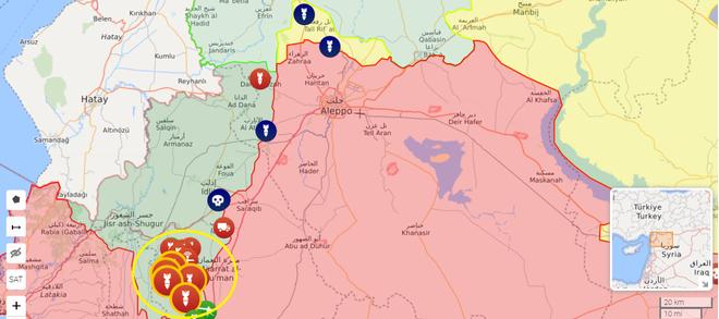 Hỏa lực mạnh QĐ Syria cấp tập tiến về Idlib, KQ Nga đánh phá ác liệt, xe tăng TNK áp sát biên giới: Chiến sự khốc liệt - Ảnh 1.