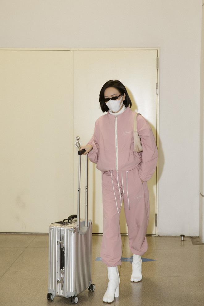 Diệu Nhi khoe gu ăn vận thời thượng khi xuất hiện tại sân bay - Ảnh 8.