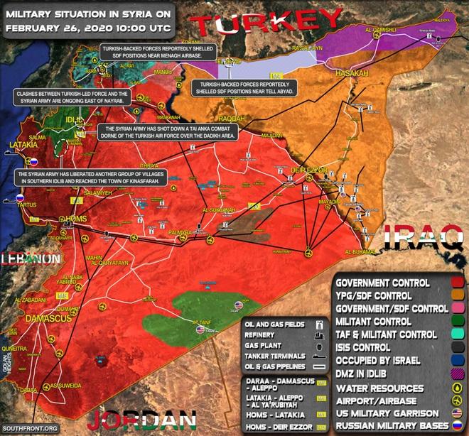 Đại quân Thổ ồ ạt tập kết, hạ lệnh bắn hạ chiến đấu cơ Nga: Quân đội Nga và Syria báo động đỏ trước tình huống xấu nhất - Ảnh 1.