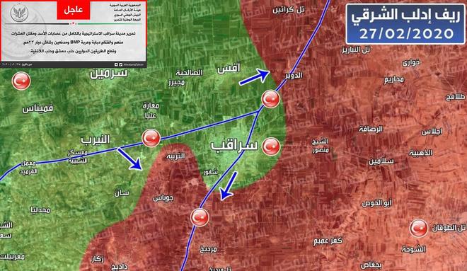 Tái chiếm Saraqeb, chặt đứt cao tốc M5: Thổ sập bẫy Nga-Syria, chiến thắng chẳng tày gang? - Ảnh 2.