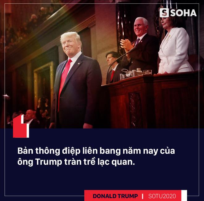 Thông điệp liên bang: Bài hùng biện đanh thép của ông Trump cho cuộc đua tái tranh cử - Ảnh 1.