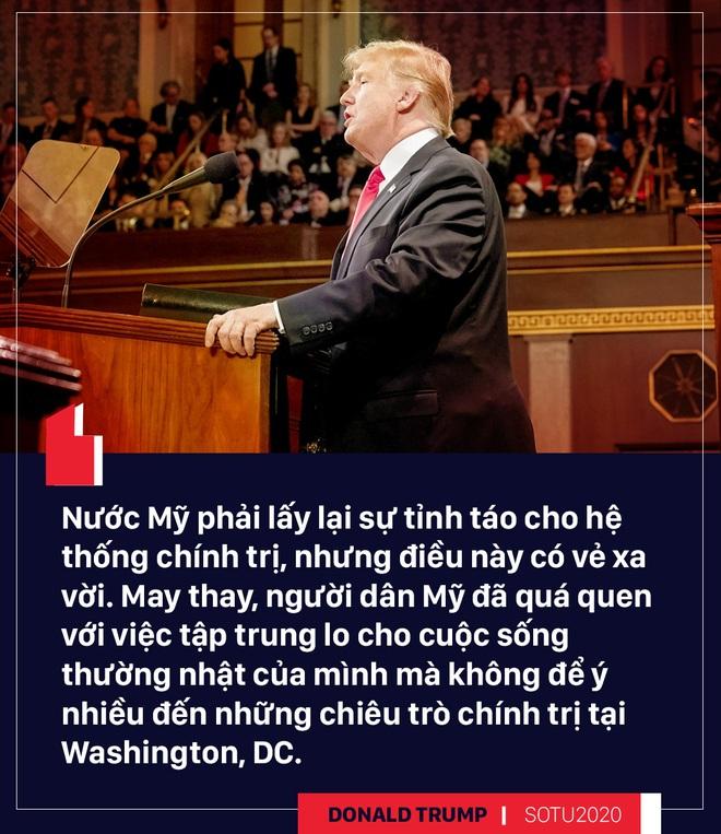 Thông điệp liên bang: Bài hùng biện đanh thép của ông Trump cho cuộc đua tái tranh cử - Ảnh 16.