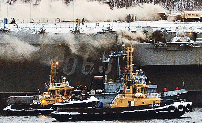Tiết lộ sốc về vụ cháy tàu sân bay Đô đốc Kuznetsov của Nga: Thảm họa thật sự? - Ảnh 2.