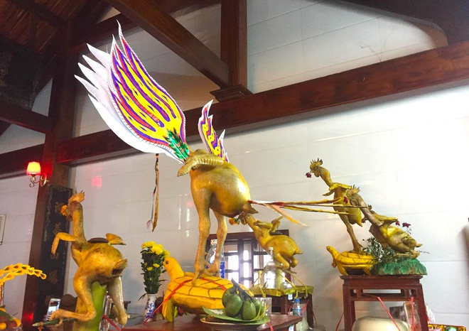 Ngắm những thế gà múa trên mâm cỗ ngày rằm tháng giêng ở Hà Tĩnh - Ảnh 15.