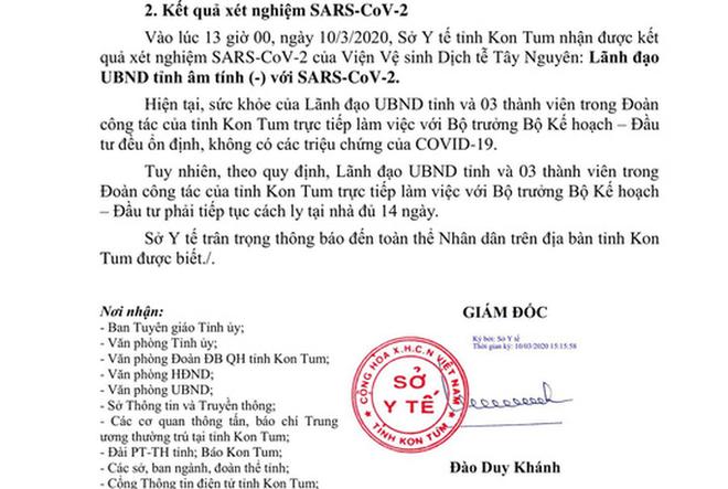 Một lãnh đạo UBND tỉnh Kon Tum và 3 cán bộ cách ly 14 ngày - Ảnh 1.
