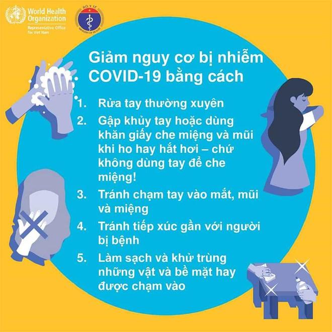 Bộ Y tế khuyến cáo: 5 cách giảm nguy cơ bị nhiễm Covid-19 - Ảnh 3.