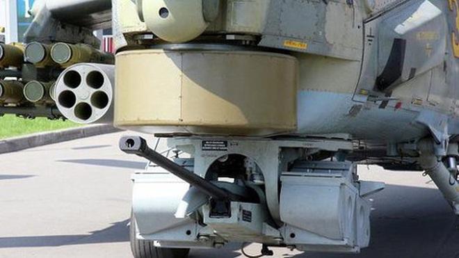 Khẩu pháo 30mm trên Mi-28 xé nát xe bọc thép phiến quân Syria - Ảnh 14.