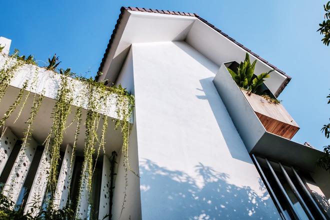 Lạ mắt với ngôi biệt thự ở Hà Nội có cầu thang chẳng giống ai - Ảnh 3.