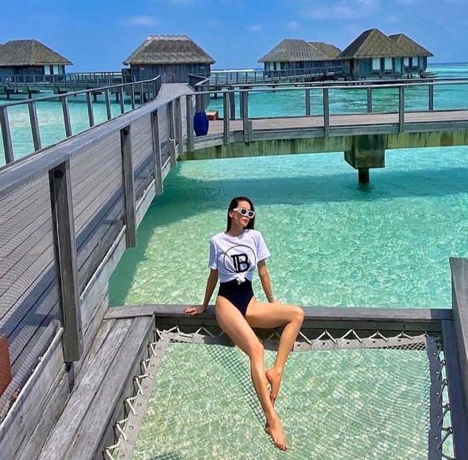 Hồ Ngọc Hà mặc bikini nóng bỏng tại Maldives: Xin được gầy để khỏi hấp dẫn ai - Ảnh 5.
