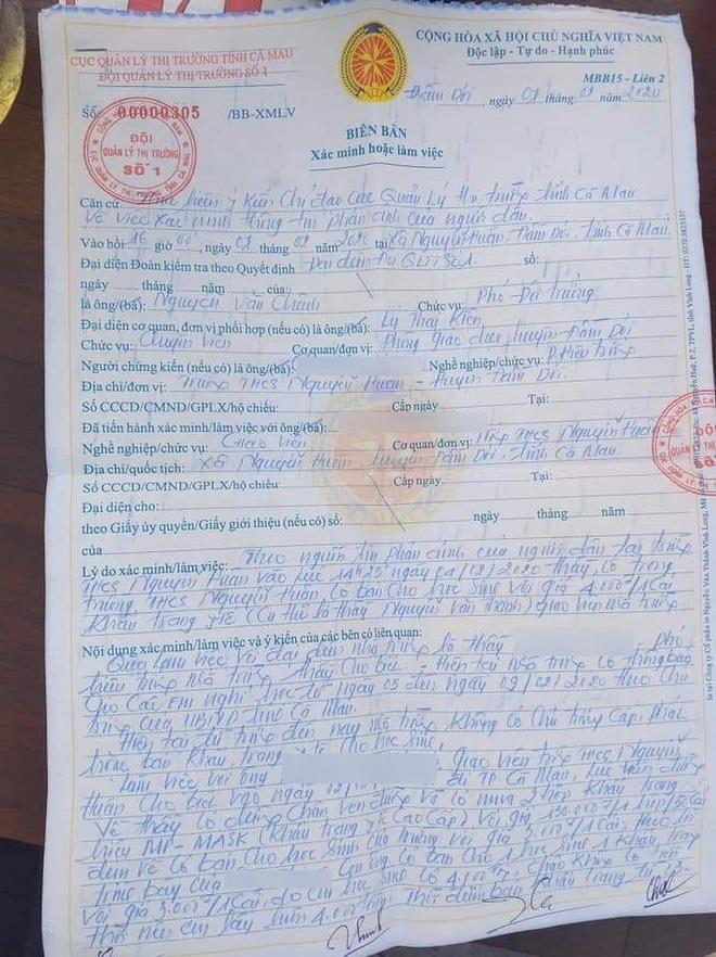 Thầy giáo bị kiểm điểm vì bán 20 khẩu trang lãi 8.000 đồng: Mình sai thì phải nhận sai thôi - Ảnh 2.