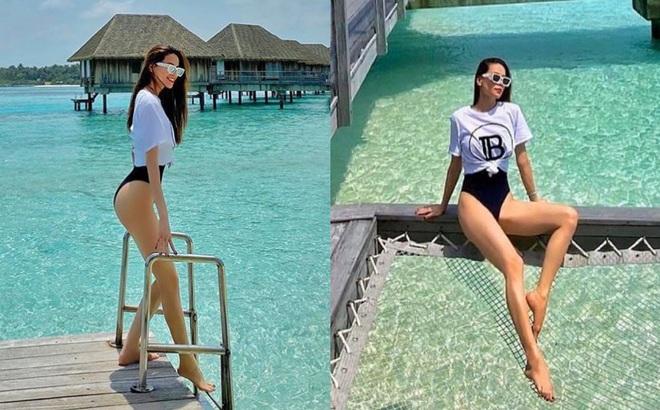 """Hồ Ngọc Hà mặc bikini nóng bỏng tại Maldives: """"Xin được gầy để khỏi hấp dẫn ai"""""""