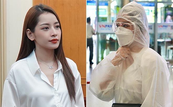 Chi Pu gây chú ý khi mặc đồ bảo hộ kín mít tại sân bay