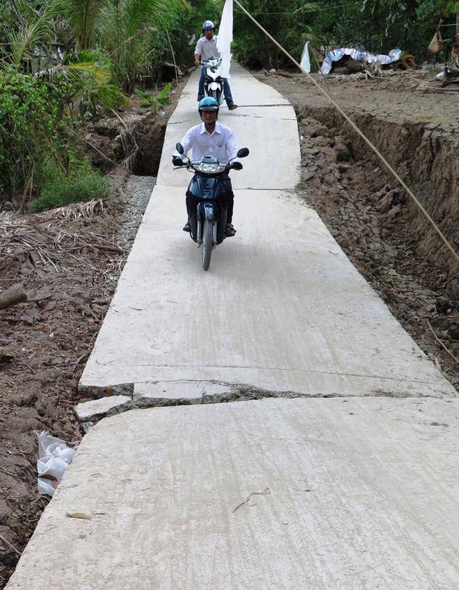 Sụt lún kinh hoàng vùng ngọt hoá Cà Mau - Ảnh 5.