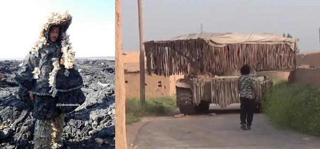 QĐ Syria độ chế xe tăng chuẩn bị tấn công Idlib: Đánh thẳng vào điểm mù của UAV Thổ? - Ảnh 4.