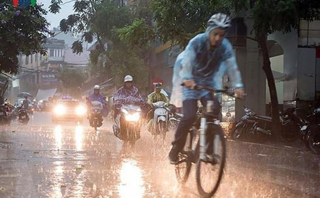 Tin gió mùa Đông Bắc: Hà Nội mưa rào và có nơi có giông