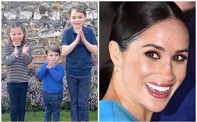 """Không chịu kém cạnh chị dâu Kate khoe 3 con tham gia chiến dịch ý nghĩa, Meghan Markle cũng """"ăn theo"""" với cách khác biệt nhưng lại bị chỉ trích nhiều hơn"""