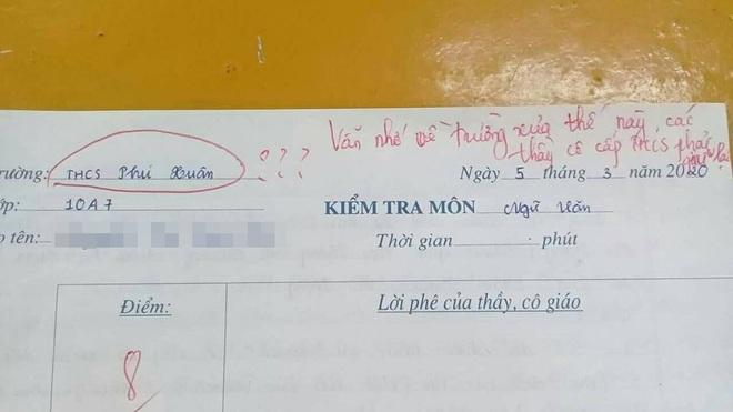 Nhầm tên trường trong bài kiểm tra, nữ sinh bị cô giáo thả một câu nhẹ nhàng nhưng đủ toát mồ hôi hột - ảnh 1
