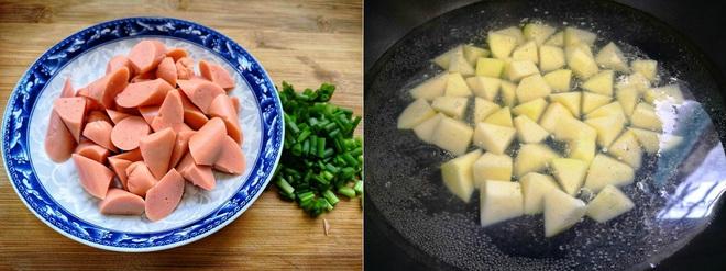 Khoai tây chiên lắc xúc xích – món vặt ngon mà ăn cơm cũng tuyệt - Ảnh 2.