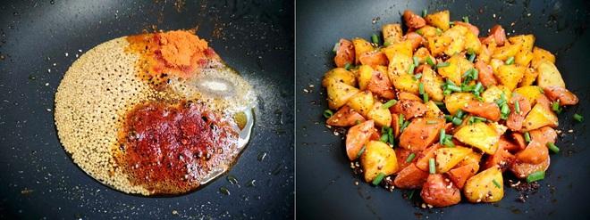 Khoai tây chiên lắc xúc xích – món vặt ngon mà ăn cơm cũng tuyệt - Ảnh 4.