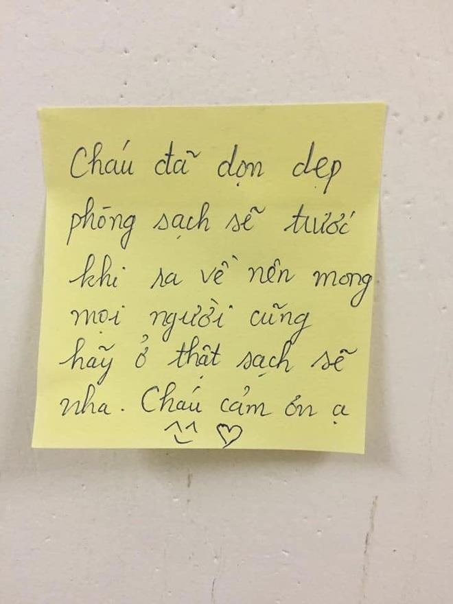 Nữ sinh thức đến 2h sáng viết lời nhắn đáng yêu gửi những người chuẩn bị đến cách ly - Ảnh 2.