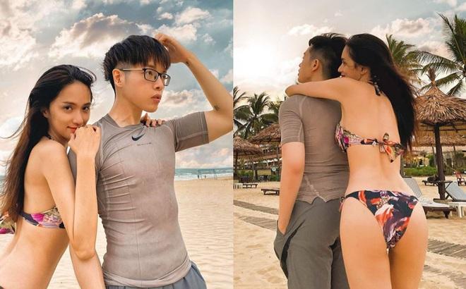 Lộ mặt người đàn ông bí ẩn trong bức ảnh tình tứ, sexy của Hương Giang