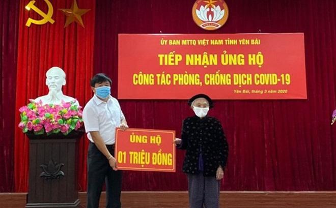 Yên Bái: Cụ bà 102 tuổi ủng hộ 1 triệu đồng phòng chống Covid-19