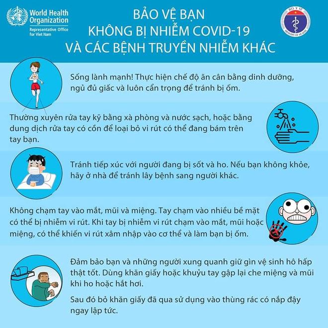 Bộ Y tế khuyến cáo: 5 lưu ý bảo vệ bạn không nhiễm Covid-19 - Ảnh 2.