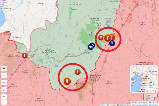 Tên lửa Israel tấn công tới tấp, phòng không Syria báo động đỏ - Quân khủng bố thề chết tử thủ Idlib - Ảnh 1.