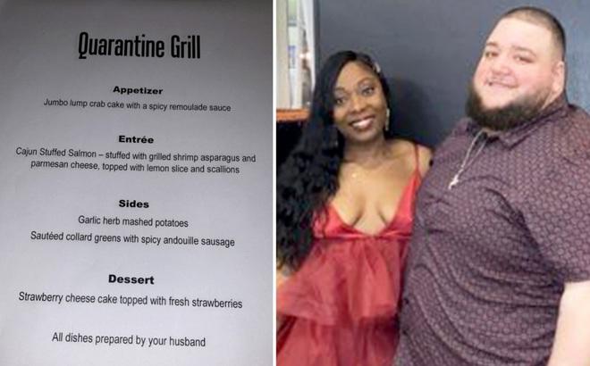 Anh chồng của năm: Ở nhà cách ly mở nhà hàng phục vụ riêng vợ, dân mạng hết lời khen ngợi