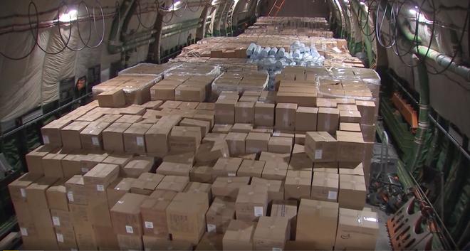 Chuyến hàng khủng của Nga: Máy bay quân sự vượt 8.000km đưa viện trợ y tế tới Mỹ theo lệnh ông Putin - Ảnh 1.