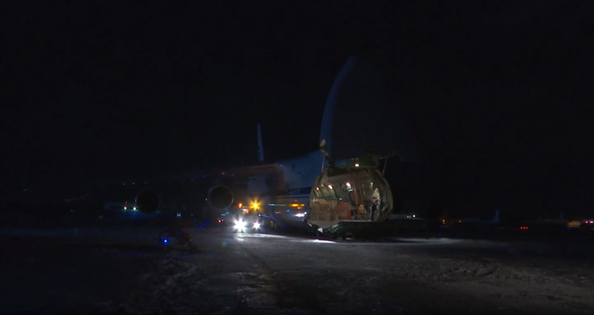 Chuyến hàng khủng của Nga: Máy bay quân sự vượt 8.000km đưa viện trợ y tế tới Mỹ theo lệnh ông Putin - Ảnh 2.