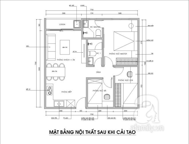 Tư vấn thiết kế thêm 1 phòng ngủ trong căn hộ 54m² với mức chi phí là 15 triệu theo yêu cầu của gia chủ - Ảnh 3.