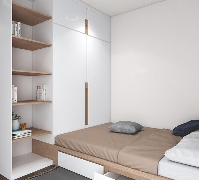 Tư vấn thiết kế thêm 1 phòng ngủ trong căn hộ 54m² với mức chi phí là 15 triệu theo yêu cầu của gia chủ - Ảnh 10.
