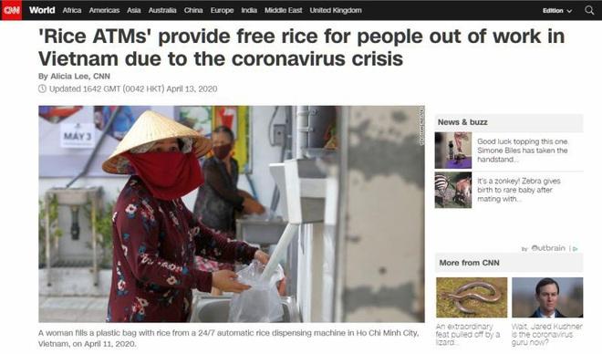 COVID-19: Máy ATM gạo Việt Nam xuất hiện trên nhiều báo nước ngoài, thống đốc New York bất đồng với TT Trump - Ảnh 1.