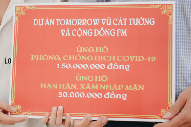 Vũ Cát Tường cùng fan tặng 200 triệu để chống dịch Covid-19, hạn mặn miền Tây - Ảnh 2.