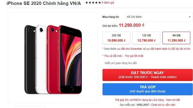 iPhone SE 2020 được đặt trước tại Việt Nam với giá chỉ hơn 10 triệu đồng - Ảnh 1.