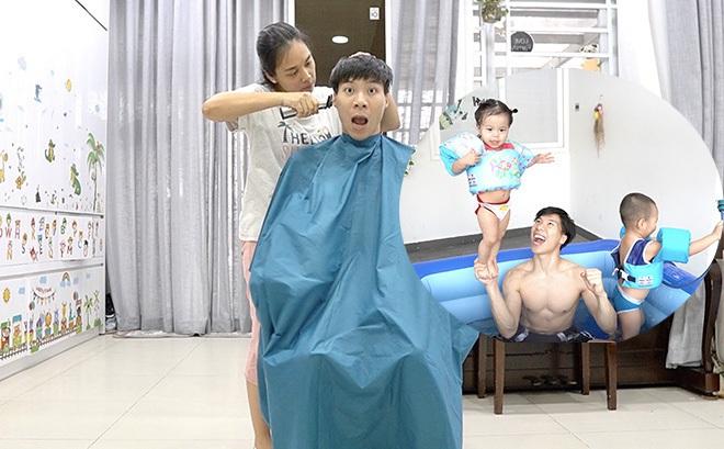 Chia sẻ hài hước của Quốc Nghiệp khi được vợ tự tay cắt tóc ngay tại nhà