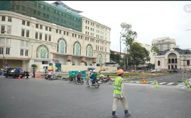 [Video] Dỡ bỏ rào chắn trước Nhà hát TP.HCM, người dân sẽ được tham quan ga ngầm của tuyến Metro từ 30/4