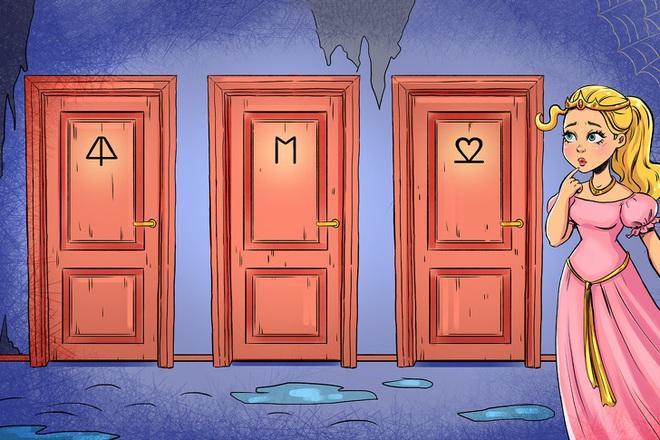 Câu đố IQ: Theo bạn, đâu là cánh cửa có thể giải thoát công chúa đang bị giam trong tòa tháp? - Ảnh 1.