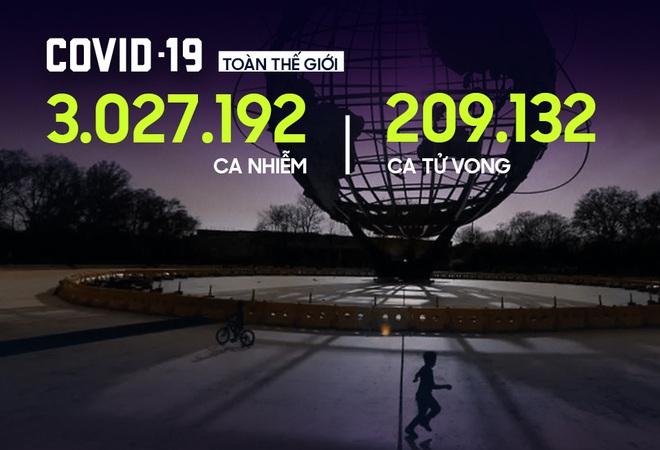 COVID-19: Số ca nhiễm toàn cầu vượt mốc 3 triệu, New York bất ngờ hoãn bầu cử sơ bộ TT Mỹ - Ảnh 1.
