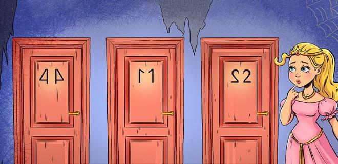 Câu đố IQ: Theo bạn, đâu là cánh cửa có thể giải thoát công chúa đang bị giam trong tòa tháp? - Ảnh 2.