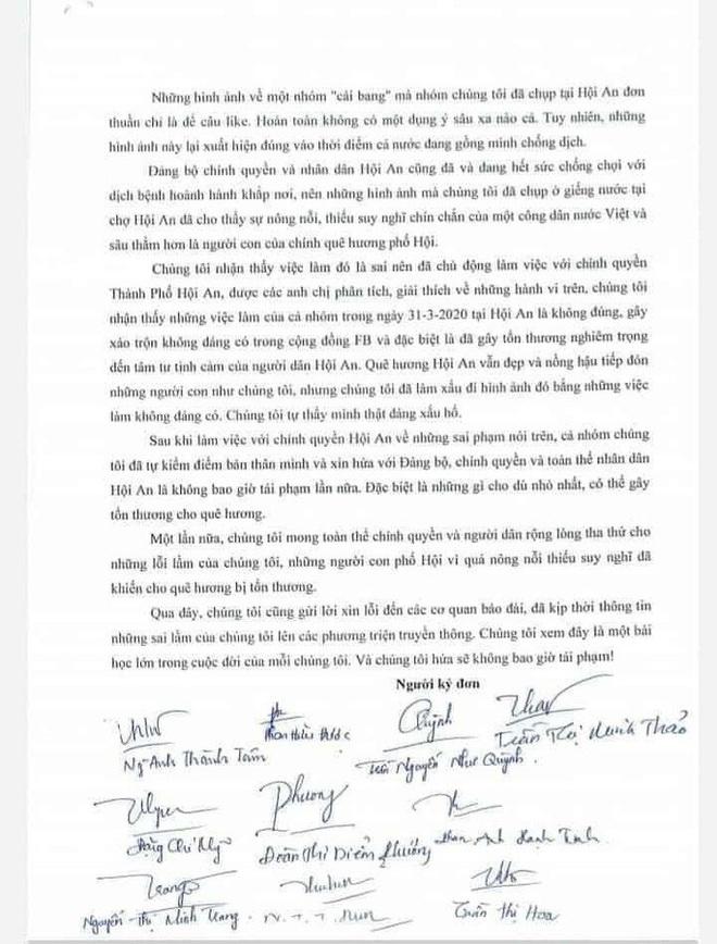 Nhóm giả danh cái bang ăn xin là người nhà Vũ nhôm, viết thư xin lỗi Hội An - Ảnh 2.
