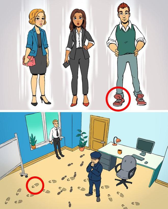 Thử tài phá án: Người tinh tường sẽ nhìn ra ai là thủ phạm đột nhập phòng kín - Ảnh 3.